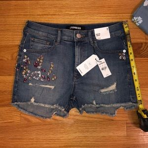 Express high rise shorties size 2